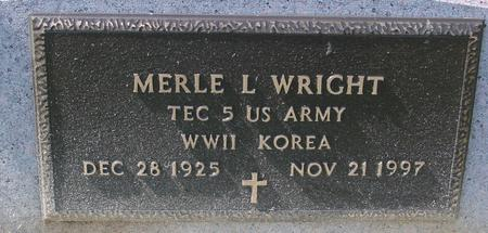 WRIGHT, MERLE L. - Woodbury County, Iowa | MERLE L. WRIGHT