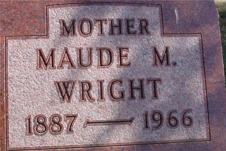 WRIGHT, MAUDE M. - Woodbury County, Iowa | MAUDE M. WRIGHT