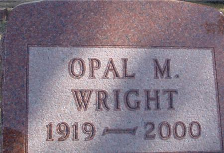 WRIGHT, OPAL M. - Woodbury County, Iowa | OPAL M. WRIGHT