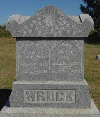 WRUCK, JOHN & DORATHEA - Woodbury County, Iowa | JOHN & DORATHEA WRUCK
