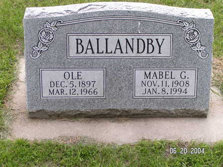 BALLANDBY, MABEL G. - Worth County, Iowa | MABEL G. BALLANDBY