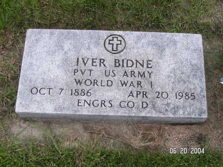 BIDNE, IVER - Worth County, Iowa | IVER BIDNE