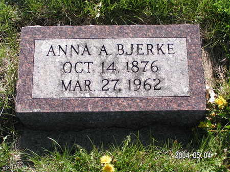 BJERKE, ANNA A. - Worth County, Iowa | ANNA A. BJERKE
