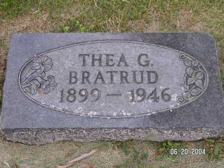 BRATRUD, THEA G. - Worth County, Iowa | THEA G. BRATRUD