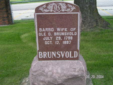 BRUNSVOLD, BARBO - Worth County, Iowa | BARBO BRUNSVOLD