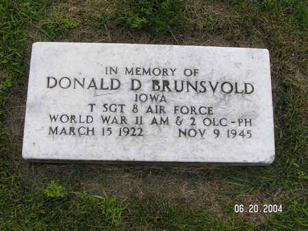 BRUNSVOLD, DONALD D. - Worth County, Iowa | DONALD D. BRUNSVOLD