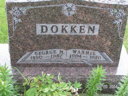 DOKKEN, GEORGE M. - Worth County, Iowa | GEORGE M. DOKKEN