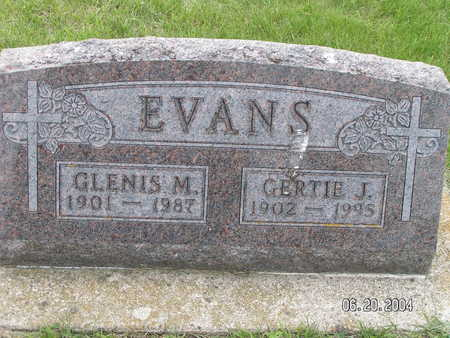 EVANS, GLENIS M. - Worth County, Iowa | GLENIS M. EVANS