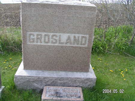 GROSLAND, FAMILY - Worth County, Iowa | FAMILY GROSLAND