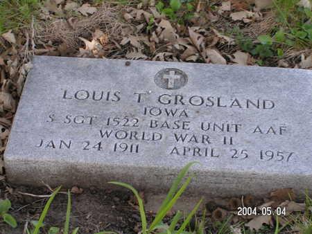GROSLAND, LOUIS T. - Worth County, Iowa | LOUIS T. GROSLAND