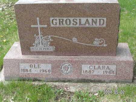 GROSLAND, CLARA - Worth County, Iowa | CLARA GROSLAND