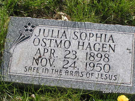OSTMO HAGEN, JULIA SOPHIA - Worth County, Iowa | JULIA SOPHIA OSTMO HAGEN