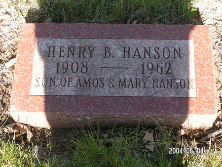 HANSON, HENRY B. - Worth County, Iowa | HENRY B. HANSON