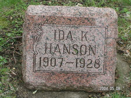 HANSON, IDA K. - Worth County, Iowa | IDA K. HANSON