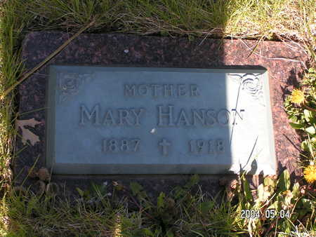 HANSON, MARY - Worth County, Iowa | MARY HANSON