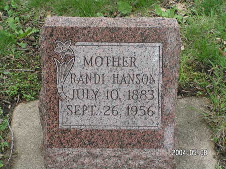HANSON, RANDI - Worth County, Iowa | RANDI HANSON