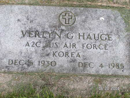 HAUGE, VERLYN G. - Worth County, Iowa | VERLYN G. HAUGE