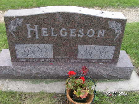HELGESON, JAMES A. - Worth County, Iowa | JAMES A. HELGESON