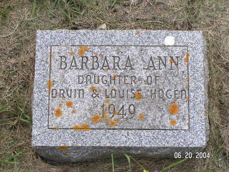 HOGEN, BARBARA ANN - Worth County, Iowa | BARBARA ANN HOGEN