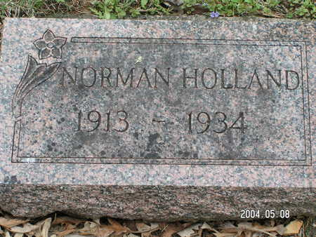 HOLLAND, NORMAN - Worth County, Iowa | NORMAN HOLLAND