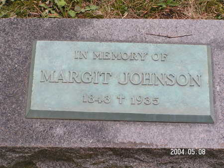 JOHNSON, MARGIT - Worth County, Iowa | MARGIT JOHNSON