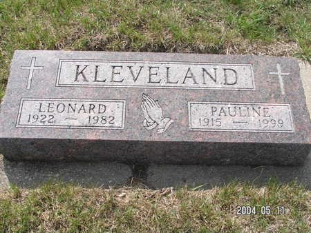 KLEVELAND, PAULINE - Worth County, Iowa | PAULINE KLEVELAND