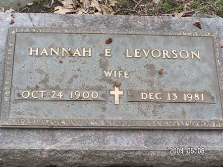 LEVORSON, HANNAH E. - Worth County, Iowa | HANNAH E. LEVORSON
