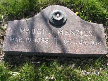 MENZIES, MABEL J - Worth County, Iowa | MABEL J MENZIES