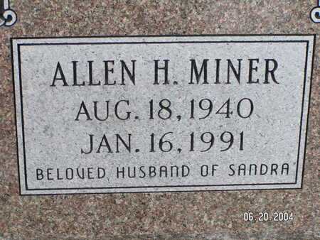 MINER, ALLEN H. - Worth County, Iowa | ALLEN H. MINER