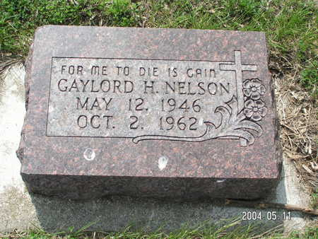 NELSON, GAYLORD H. - Worth County, Iowa | GAYLORD H. NELSON