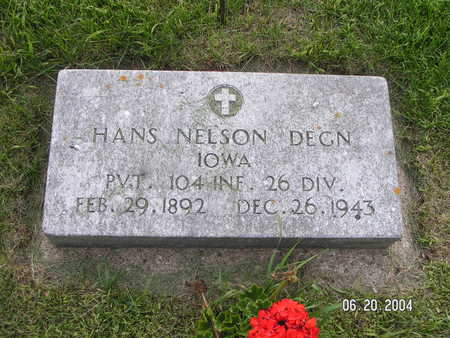DEGN, HANS NELSON - Worth County, Iowa | HANS NELSON DEGN