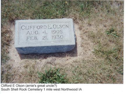 OLSON, CLIFFORD E. - Worth County, Iowa | CLIFFORD E. OLSON