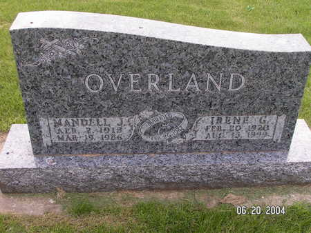 OVERLAND, IRENE G. - Worth County, Iowa | IRENE G. OVERLAND