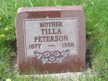 PETERSON, TILLA - Worth County, Iowa | TILLA PETERSON