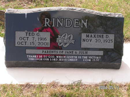 RINDEN, TED G. - Worth County, Iowa | TED G. RINDEN
