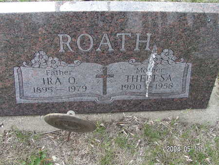 ROATH, IRA O. - Worth County, Iowa | IRA O. ROATH