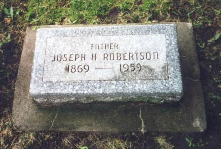 ROBERTSON, JOSEPH HASTWELL - Worth County, Iowa | JOSEPH HASTWELL ROBERTSON