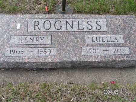 ROGNESS, LUELLA - Worth County, Iowa | LUELLA ROGNESS