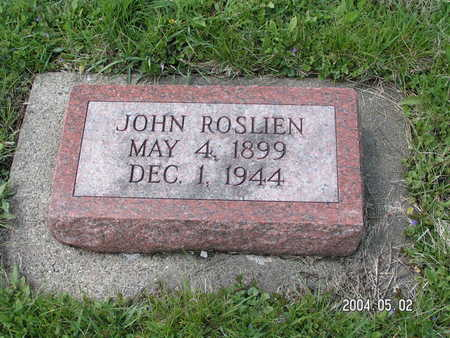 ROSLIEN, JOHN - Worth County, Iowa | JOHN ROSLIEN
