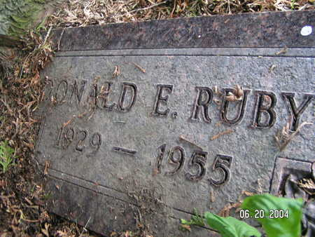 RUBY, DONALD E. - Worth County, Iowa | DONALD E. RUBY