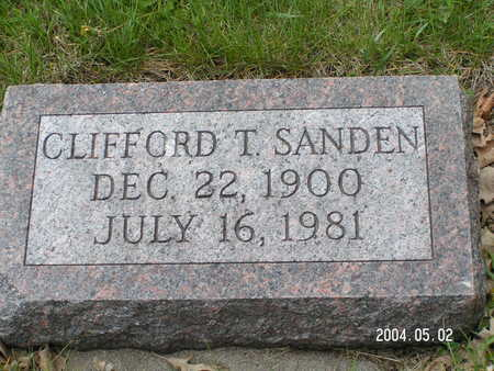 SANDEN, CLIFFORD T. - Worth County, Iowa | CLIFFORD T. SANDEN