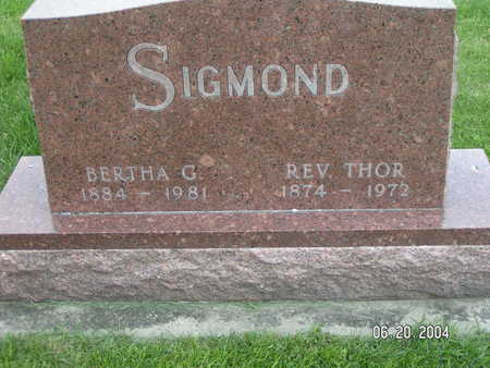 SIGMOND, BERTHA G. - Worth County, Iowa | BERTHA G. SIGMOND