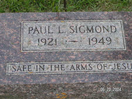 SIGMOND, PAUL L. - Worth County, Iowa | PAUL L. SIGMOND