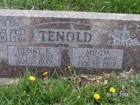 TENOLD, HENRY E. - Worth County, Iowa | HENRY E. TENOLD