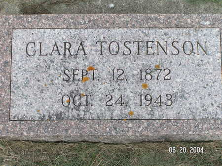 TOSTENSON, CLARA - Worth County, Iowa | CLARA TOSTENSON