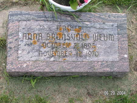 BRUNSVOLD WEUM, ANNA - Worth County, Iowa | ANNA BRUNSVOLD WEUM