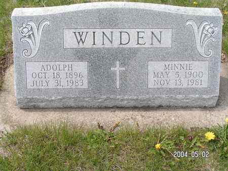 WINDEN, ADOLPH - Worth County, Iowa | ADOLPH WINDEN