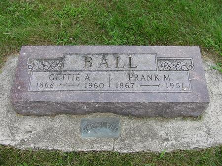 BALL, FRANK M. - Wright County, Iowa | FRANK M. BALL