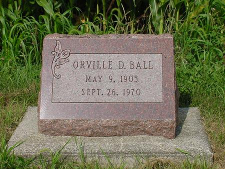 BALL, ORVILLE DALLAS - Wright County, Iowa | ORVILLE DALLAS BALL