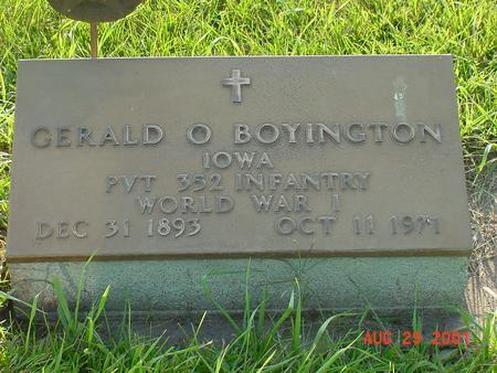 BOYINGTON, GERALD O. - Wright County, Iowa | GERALD O. BOYINGTON